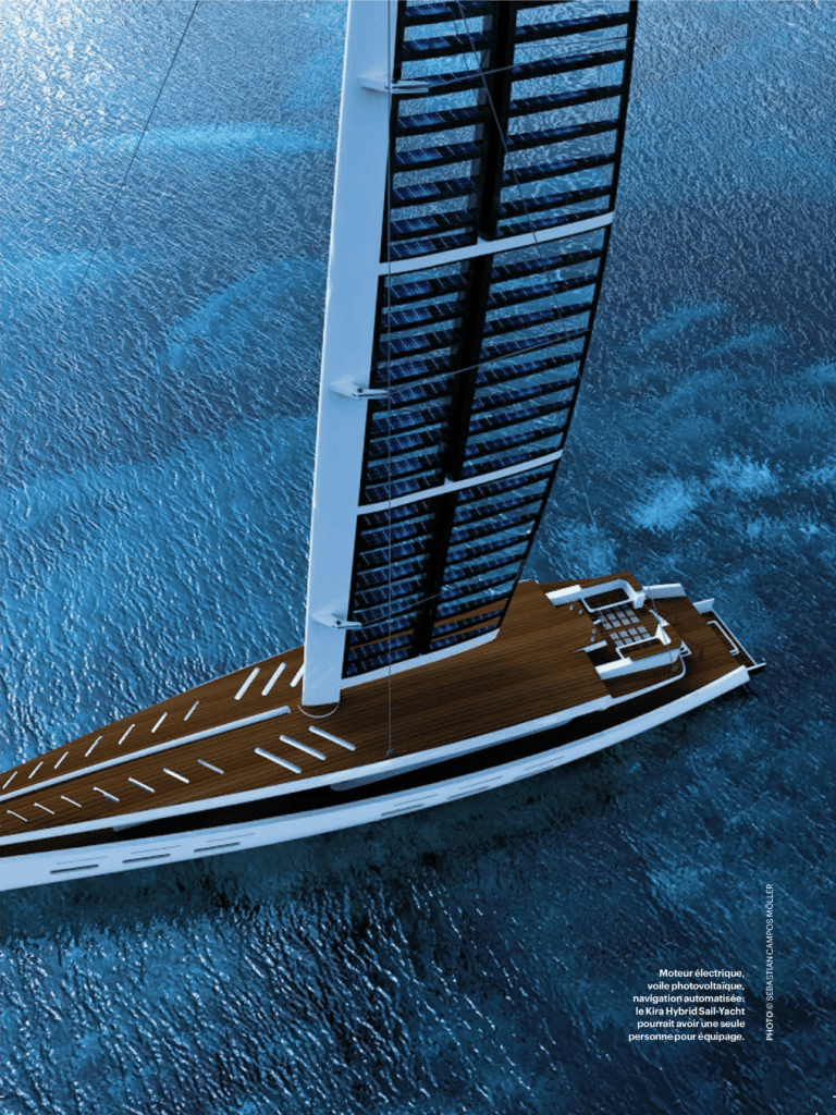 Kira hybrid sail-yacht voile photovoltaïque