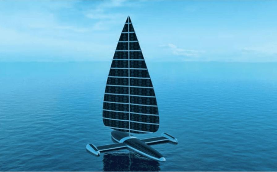 Le solarsail, drone marin producteur d'énergie, est encore à l'état de concept.