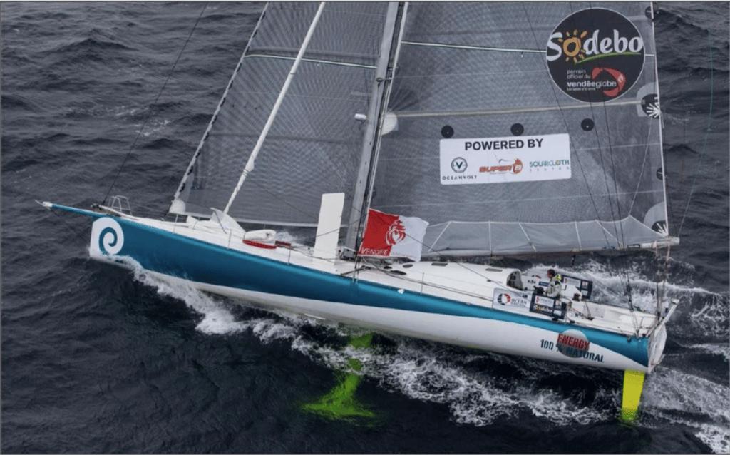 Voile power sails de l'imoca 60 de conrad colman